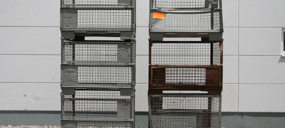 UIC-Gitterboxpaletten nach und vor...