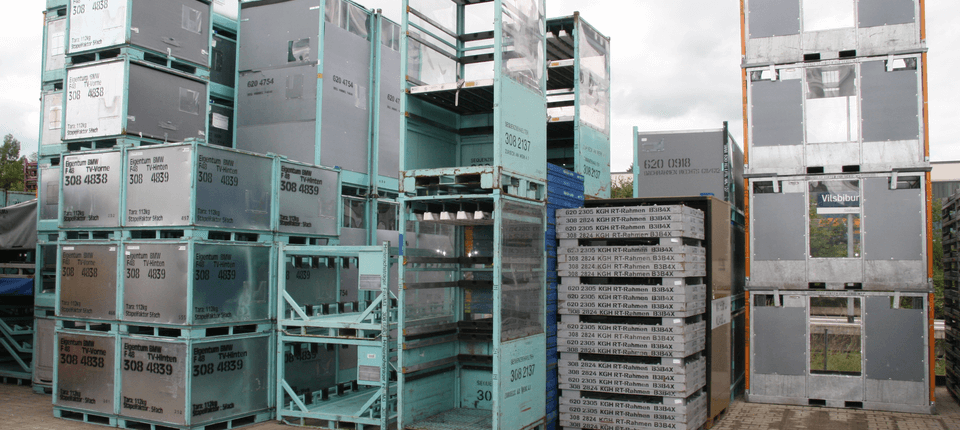 Examples of specialist container racks, which we are able to modify