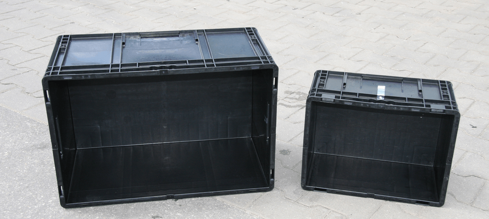 Abbildung der Behälterformen, die wir mit unserer eigenen Waschanlage für unsere Kunden reinigen.